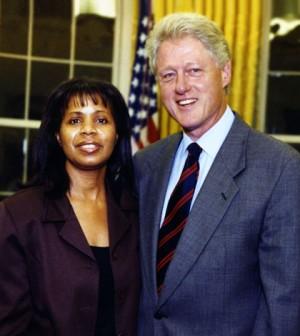 Janis Kearney and Bill Clinton